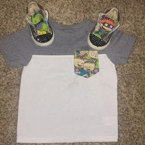 Custom Rugrats converse and shirt